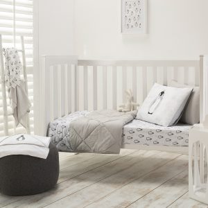 Penguin Cot Sheet & Comforter Range from the Moran Home Kids Nursery Collection