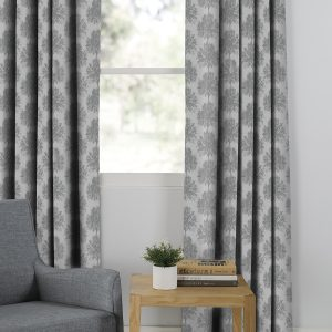 Cedar Silver Eyelet Curtain from the Moran Home Living Room Collection