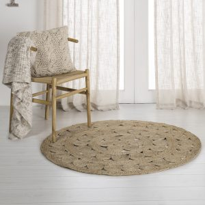 Round Jute Rug from the Moran Home Living Room Collection