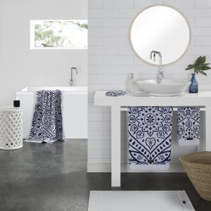 Santorini Towels from the Moran Home Bathroom Collection
