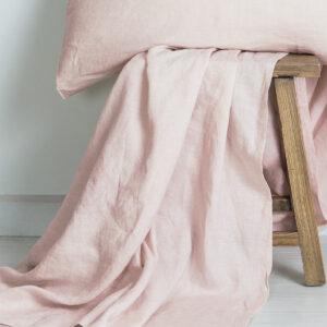 M-Home_Linen_Flat_Sheet_Blush