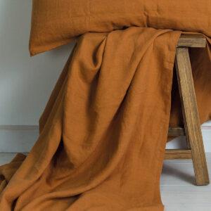 M-Home_Linen_Flat_Sheet_Cinnamon
